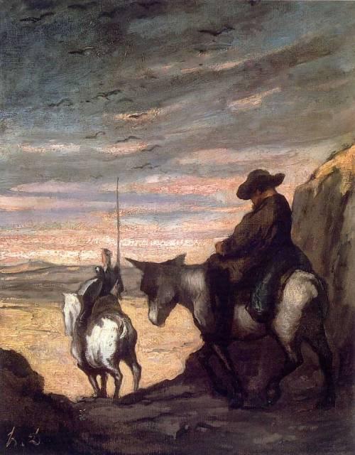 Don Quijote y Sancho Panza, óleo de Honoré Daumier