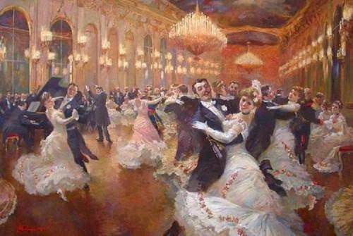 El vals vienés, pintura de Vladimir Pervunensky