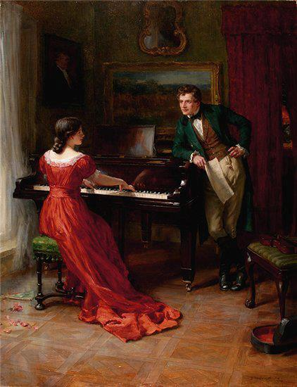 The duet. George Sheridan Knowles (1863 - 1931 )