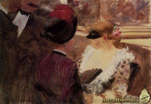 Baile de máscaras (Jean-Louis Forain)