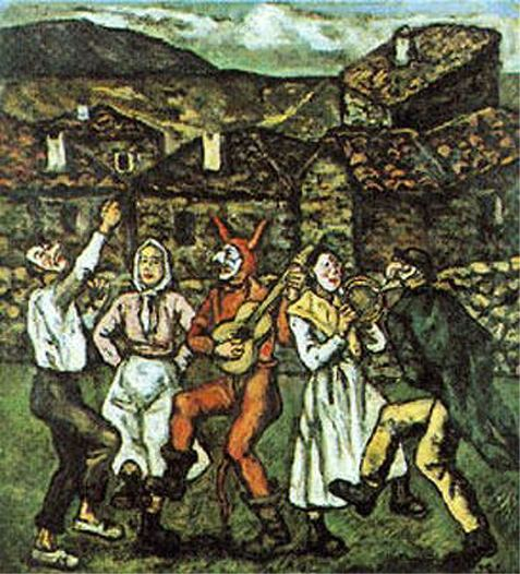 Carnaval en un pueblo, José Gutiérrez Solana. Vanguardias históricas XX
