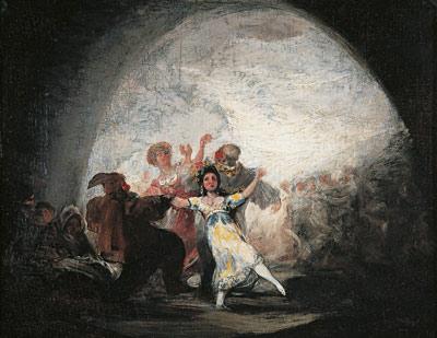 Francisco de Goya. Baile de máscaras o Danzantes enmascarados bajo un arco, c. 1815