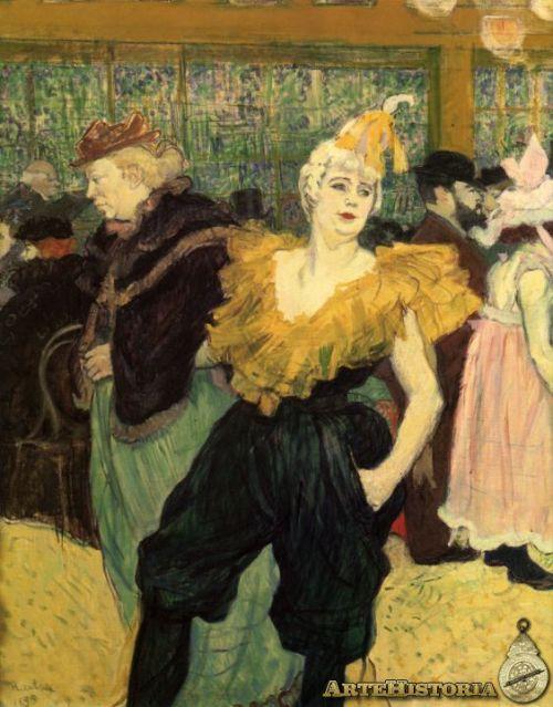 La payaso Cha-U-Kao en el Moulin Rouge. Toulouse Lautrec