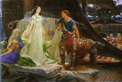 Tristan e Isolda, Herbert Draper (1863–1920).