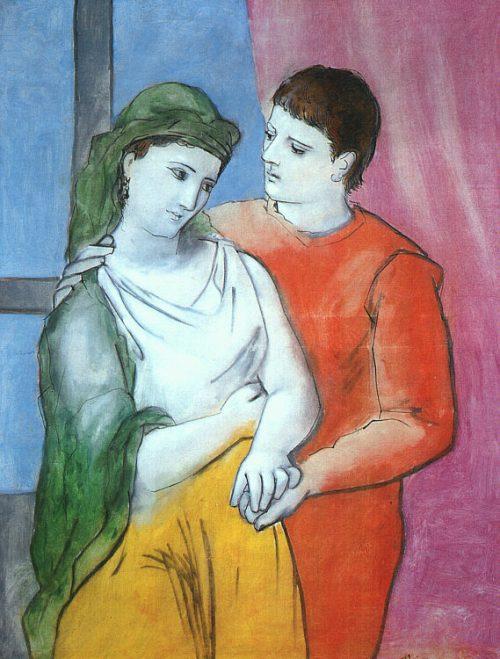 Los amantes-Picasso