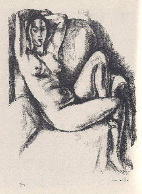 Desnudo con cojín azul (1924)