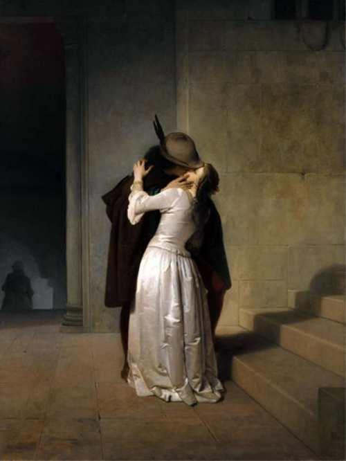 Francesco Hayez. Il bacio (1861)