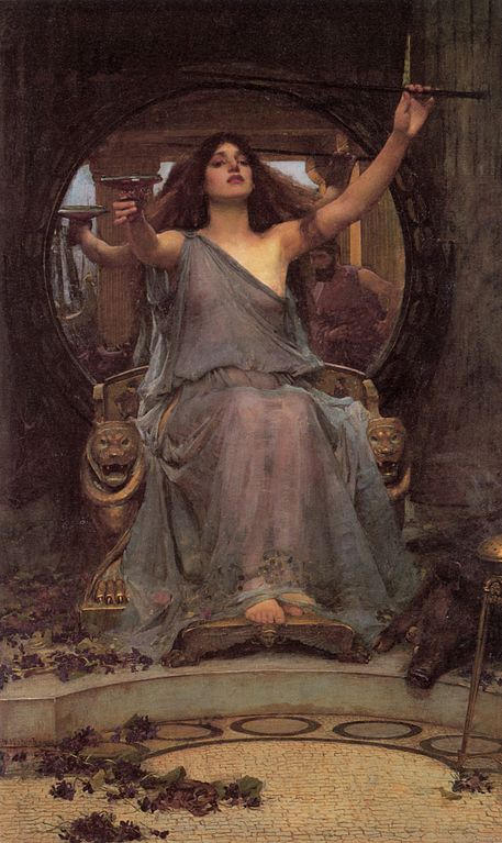 Circe ofreciendo la copa a Ulises. 1891. Waterhouse