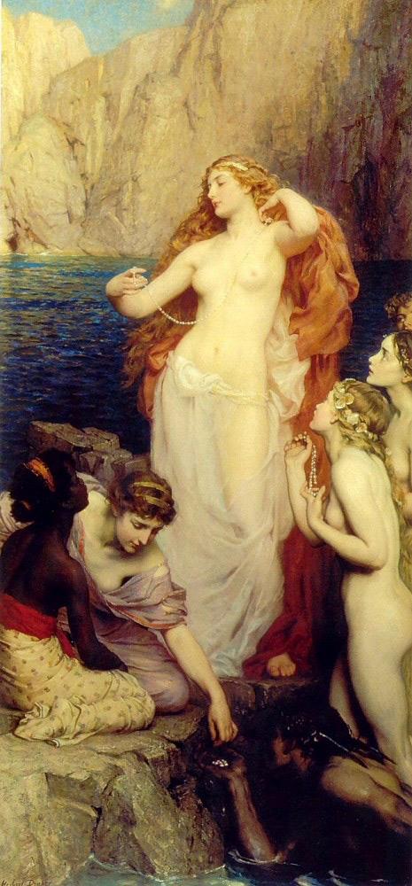 Las perlas de Afrodita , pintado por Herbert Draper.