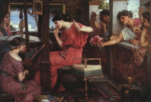 Penelope and the Suitors. 1912. Obra de John William Waterhouse