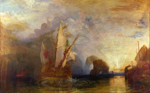 Ulises burlando a Polifemo. Joseph Mallord William Turner