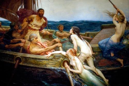Ulises y las sirenas. Herbert james Draper (1909),