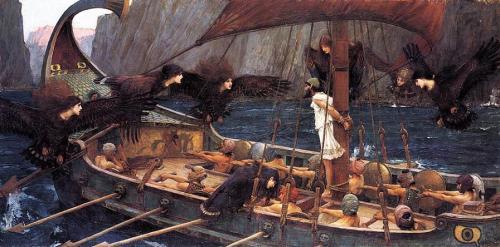 Ulises y las sirenas. J. W. Waterhouse