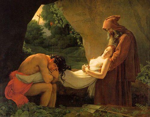 El entierro de Atala. Anne-Louis Girodet