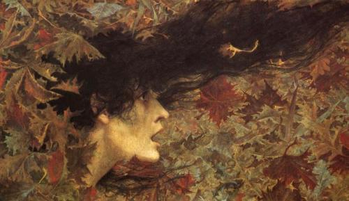 Viento de otoño, Lucien Lévy-Dhurmer (1865-1953).