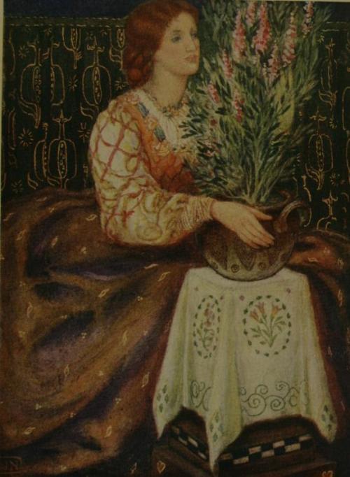 Ilustración de W. J. Neatby para el poema de Keats