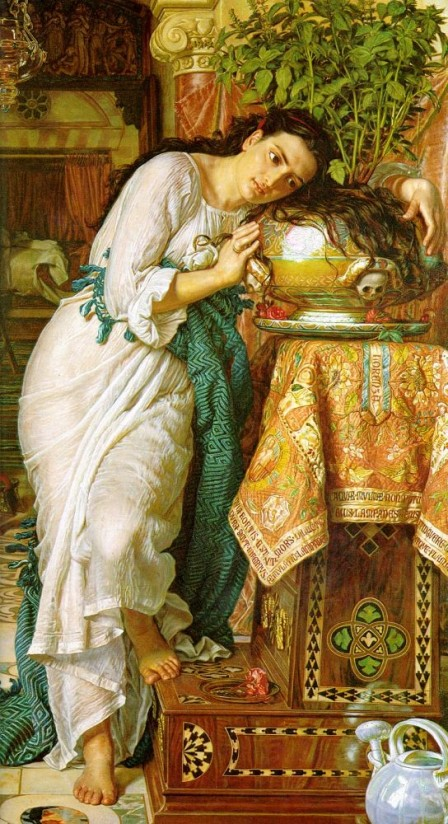 William Holman Hunt. Isabella y el tiesto de albahaca.