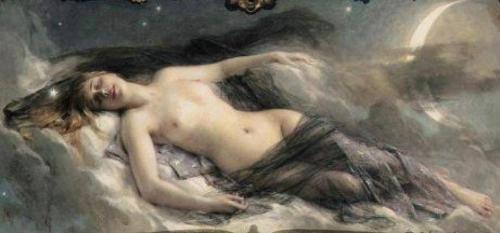 Leon-Francois Comerre (1850-1916) - Luna
