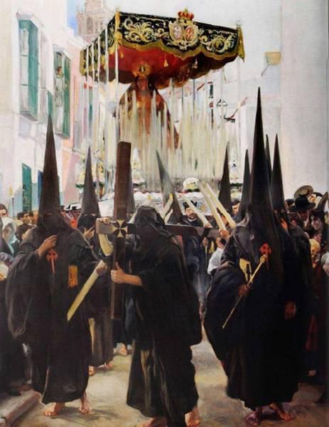 Sevilla - Los nazarenos por Joaquin Sorolla.