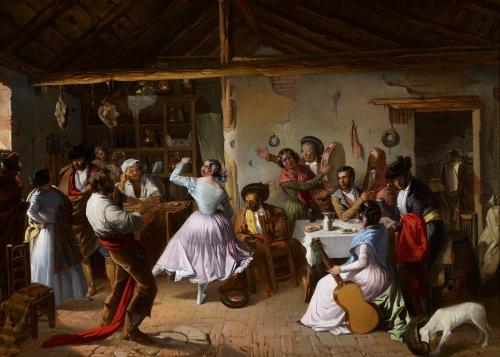 Baile en una venta.Rafael Benjumea.1850
