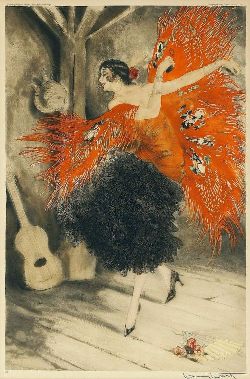 Spanish Dancer Louis Icart 1929