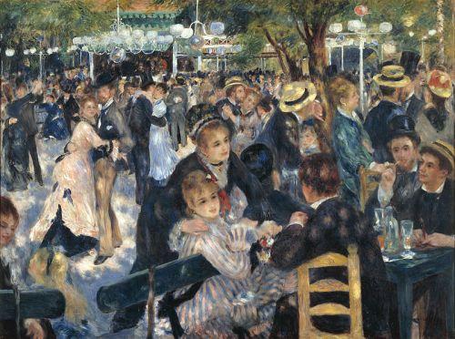 Baile en el Moulin de la Galette de Pierre-Auguste Renoir.