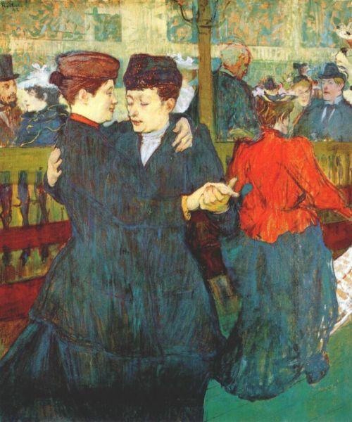 Dos mujeres bailando en el Moulin Rouge. Lautrec