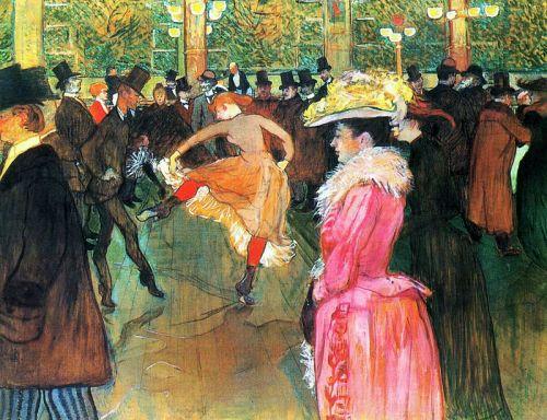 En el Molino Rojo. El baile. Henri DeToulouse-Lautrec, 1889-90