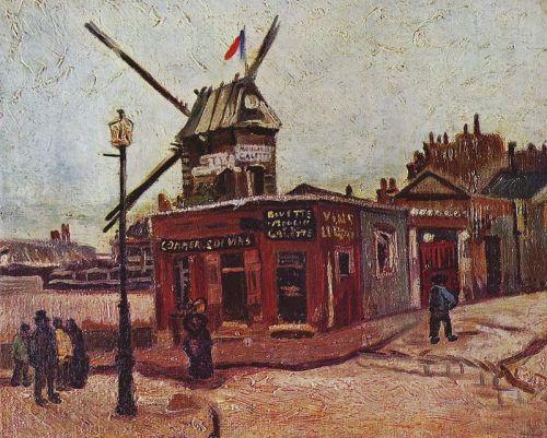 Le moulin de la galette de Vincent Van Gogh.