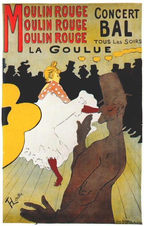 Moulin rouge - La Goulue (1891) Cartel publicitario